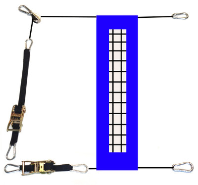 Ratchet Buckle Volleyball Net Tension Kit