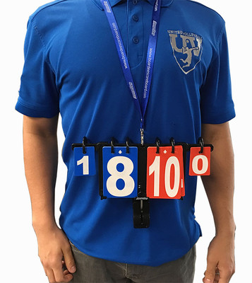 Wearable or Clip-On Scoreboard