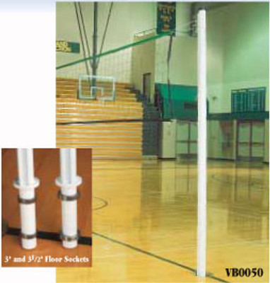 "VB0050 Universal 2 3/8"" Game Standard System - Indoor Volleyball Poles"