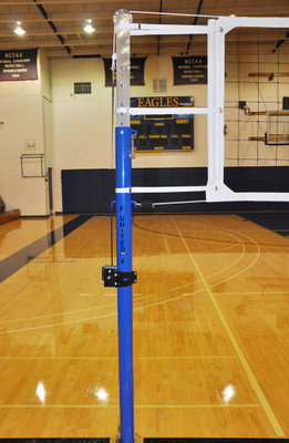 "Ultra-Stiff 3-1/2"" OD Patriot Professional Aluminum Volleyball Net System - Pole Close Up"