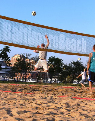 Baltimore Beach Hitter on Printed PBN4 Netting