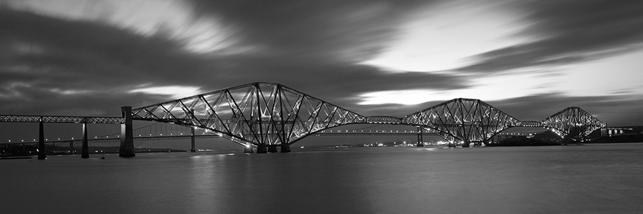 Forth road bridge edinburgh a black and white photographic print