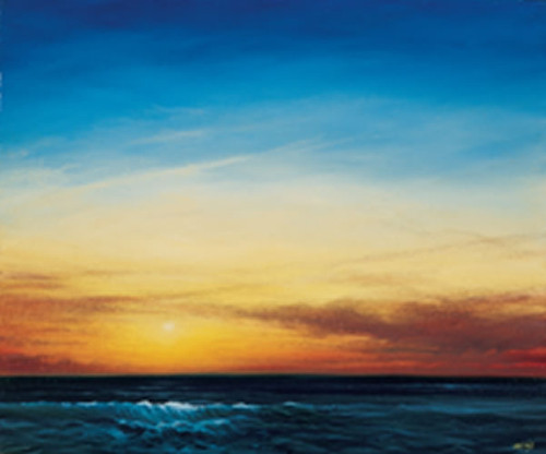 Sunset Over The Sea by Derek Hare