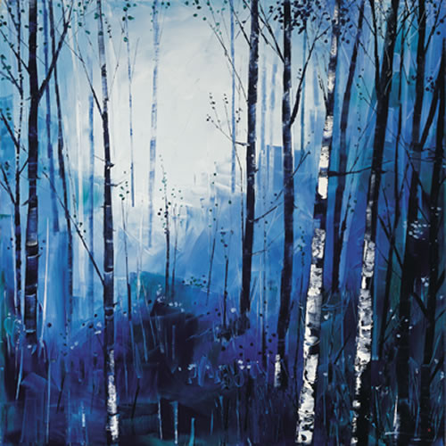 Birch and Blues by Daniel Campbell