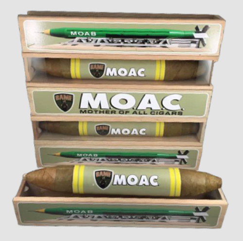 "THE MOTHER OF ALL CIGARS (M.O.A.C.)- ""BACK IN STOCK"""
