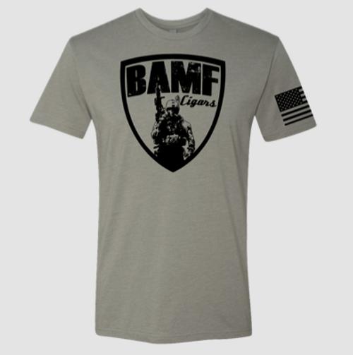 BAMF logo shirt (Gray/Black)