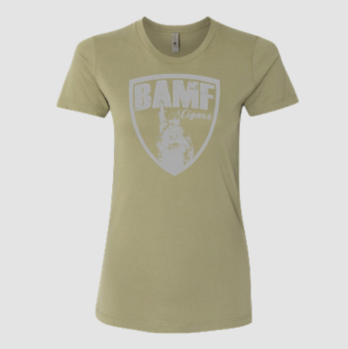 Womens BAMF logo (OD Green/Gray)