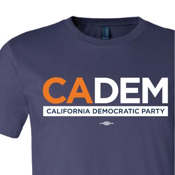 California Dems Alt Logo (Navy Unisex Tee)