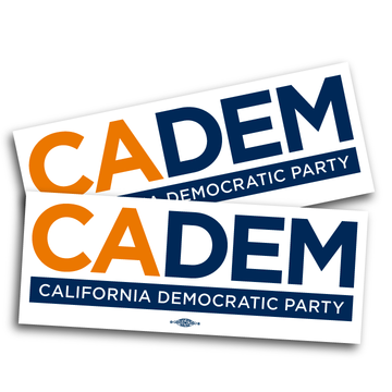 "California Democratic Party Logo (10"" x  3.825"" Vinyl Sticker -- Pack of Two!)"