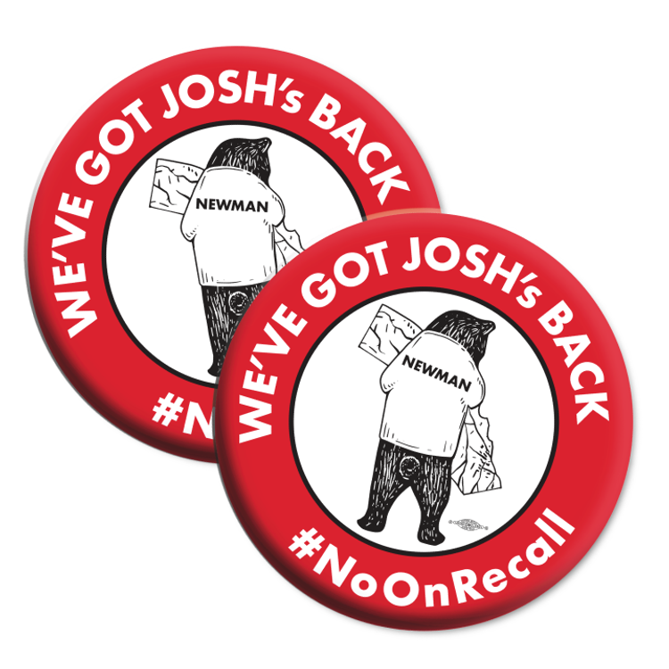"No On Recall (2.25"" Mylar Button -- Pack Of Two!)"