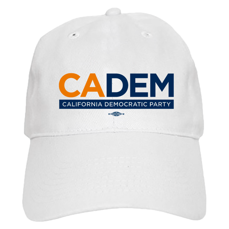 California Democratic Party Logo (White Baseball Cap)