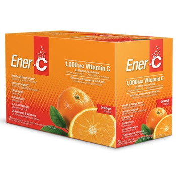 Enter-C Effervescent Drink Mix with 1000 mcg of Vitamin C (Orange)