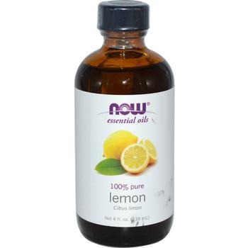 Now 100% Pure Essential Oil-Lemon ,118ml