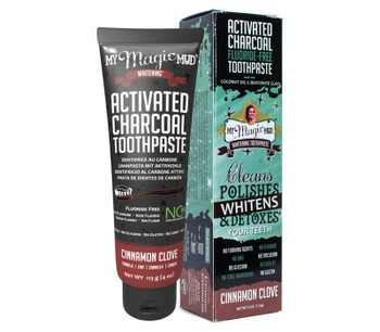 My Magic Mud Activated Charcoal Toothpaste, Cinnamon, 113g