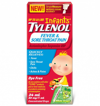 Tylenol Fever and Sore Throat Pain for Infants, 24ML