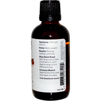 Now Clove Essential Oils, 1 fl. oz. 30 ml