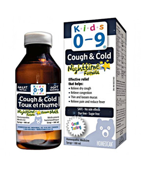 Kids 0-9 Cough & Cold Syrup Nighttime Formula, 100ml