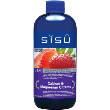 SISU Calcium & Magnesium Citrates with D3 Natural Creamy Strewberry, 450ml