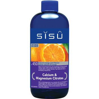 SISU Calcium & Magnesium Citrates with D3 Natural Orange Swirl, 450ml