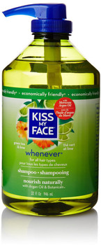 Kiss My Face, Whenever Shampoo, Green Tea & Lime, 32 fl oz (946 ml)