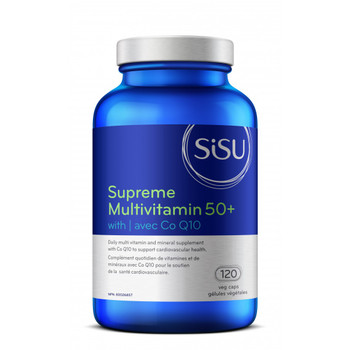 SISU Supreme Multivitamin 50+ with Co Q10, 60 Veg Capsules