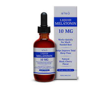 SISU Liquid Melatonin 10 mg, Natural Black Cherry