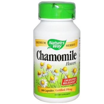 Nature's Way Chamomile Flowers 350 mg, 100 Capsules