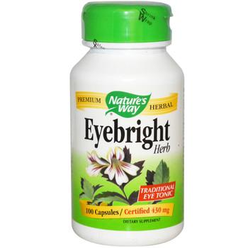 Nature's Way Eyebright Herb 430 mg, 100 Capsules