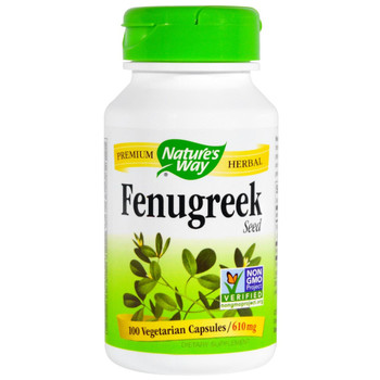 Nature's Way Fenugreek Seed 610 mg, 100 Capsules