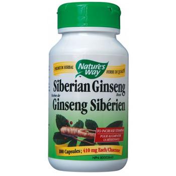 Nature's Way Siberian Ginseng Root 410 mg, 100 Capsules