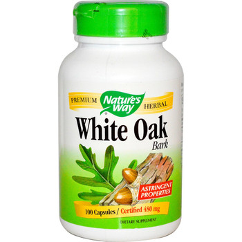 Nature's Way White Oak Bark 480 mg, 100 Capsules