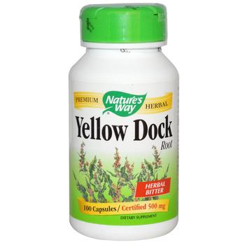 Nature's Way Yellow Dock 500 mg, 100 Capsules