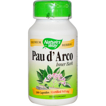 Nature's Way Pau d'Arco (Inner Bark) 545 mg, 100 Capsules