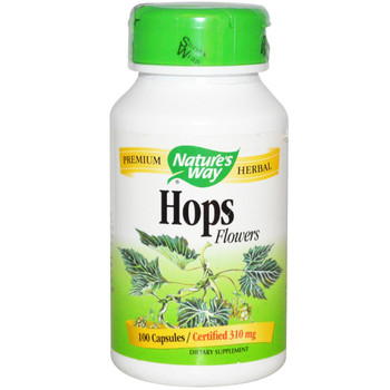 Nature's Way Hops Flowers 310 mg, 100 Capsules