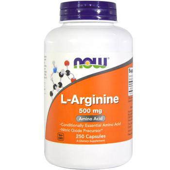 NOW L-Arginine 500 mg, 100 Capsules
