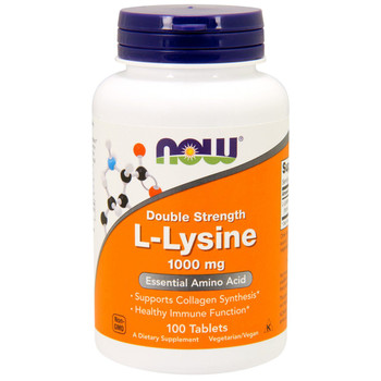 NOW L-Lysine 1000 mg, 100 Tablets