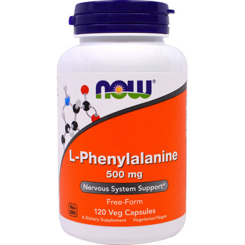 NOW L-Phenylalanine 500 mg, 60 Capsules