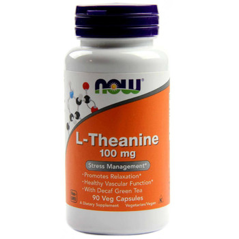 NOW L-Theanine 100 mg, 90 Capsules
