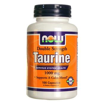 NOW Taurine 1000 mg, 100 Capsules