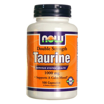 NOW Taurine 1000 mg, 100 Capsules