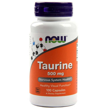 NOW Taurine 500 mg, 100 Capsules