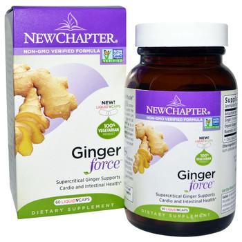 New Chapter Ginger Force, 60 Vegetarian Liquid Capsules