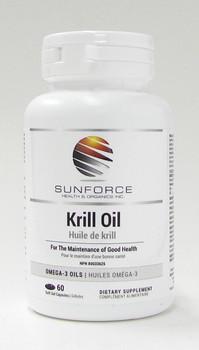 Sunforce Krill Oil, 60 Softgel Capsules