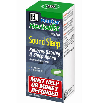 BELL Sound Sleep, Relieves Snoring & Sleep Apnea- 60 Capsules