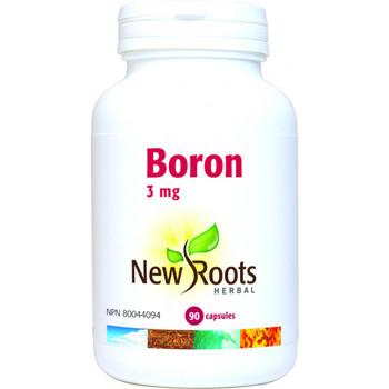 New Roots Boron 3 mg, 90 Veg Capsules