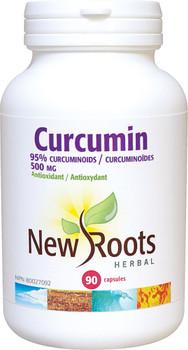 New Roots Curcumin 500 mg, 90 Veg Capsules