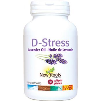New Roots D-Stress Organic Lavender Oil, 30 Softgels