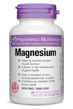 Preferred Nutrition Magnesium, 120 Veg Capsules