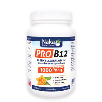 Naka Pro B12 1000 mcg Sublingual, 200 Tablets