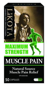 Lakota Maximum Strength- Muscle Pain Relief, 50 Capsules